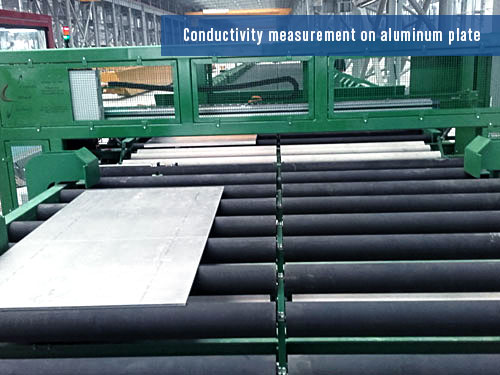 eddy current system for aluminium plates inspection