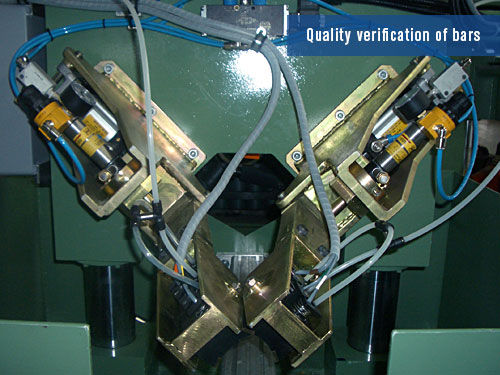 ultrasonic system for bar verification
