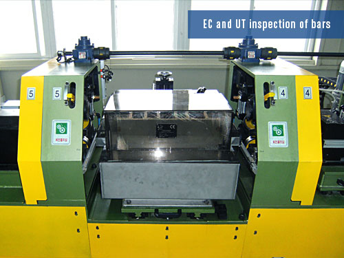 ultrasonic and eddy current method for bars inspection