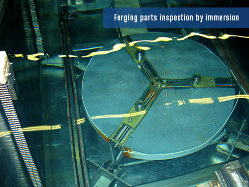 defects detection on large forging parts