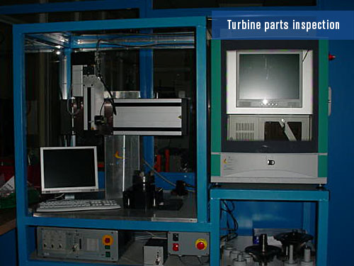 defects detection on turbine parts