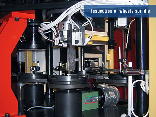 defects detection on wheels spindle