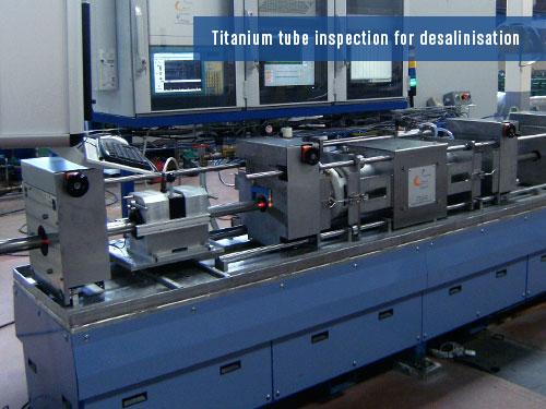 defects detection on titanium tubes