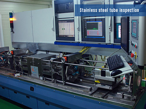 defects detection on stainless steel tubes